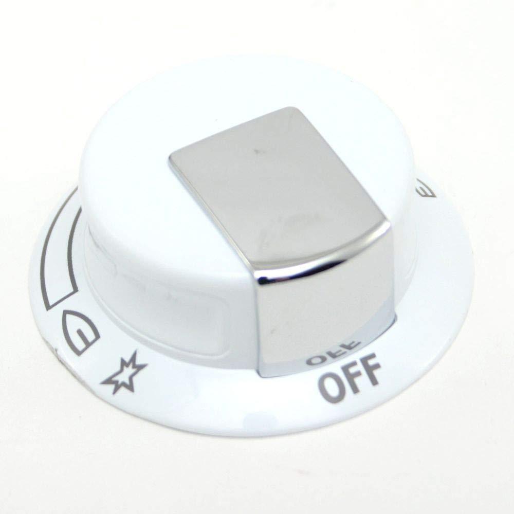 318905200 Range Surface Burner Knob Genuine Original Equipment Manufacturer Part White White OEM