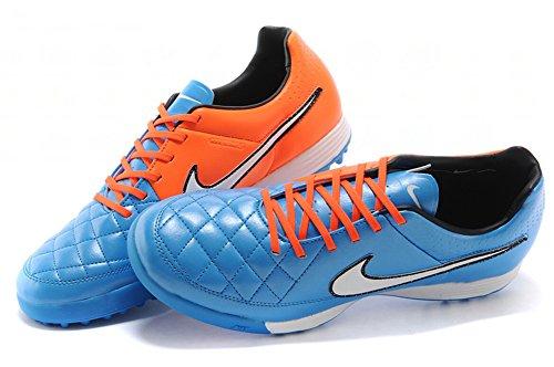 deosetly zapatos para hombre tiempo Legacy TF Botas de fútbol de fútbol azul