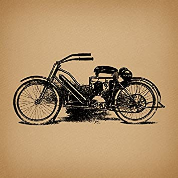 Old Fashioned Motorcycle Wall Art Vintage Motorcycle Print For Home  Decoration Antique Style Print Or Poster