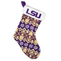LSU Tigers Knit Holiday Stocking - 2015
