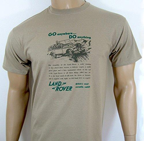 Land Rover 'Go überall... tun Werbung T-Shirt–in khaki–Gr. S (34bis 91,4cm)–
