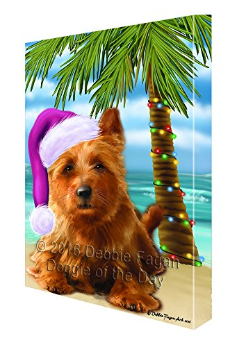 Summertime Happy Holidays Christmas Australian Terriers Dog