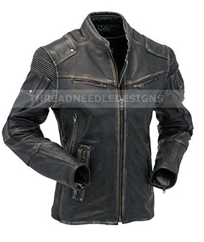 RealSkin-Mens-Vintage-Biker-Style-Motorcycle-Cafe-Racer-Distressed-Leather-Jacket