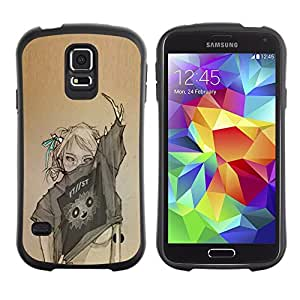 LASTONE PHONE CASE / Suave Silicona Caso Carcasa de Caucho Funda para Samsung Galaxy S5 SM-G900 / Sexy Woman Fashion Art Design