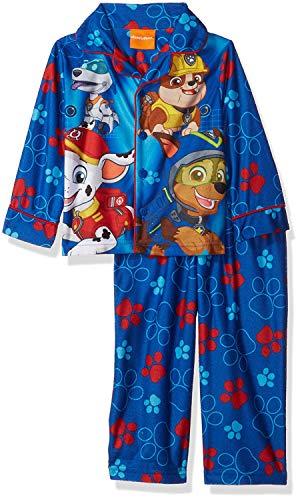 Nickelodeon Boys' Toddler' Paw Patrol 2-Piece Pajama Coat Set, Pawsitively Blue, 2T
