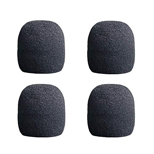(Rhinos 4 Pack Wireless/Wired Vocal Microphone Grille Inner Foam Compatible with Legendary Supercardioid Daynamic SLX2/BETA58A Replacement)
