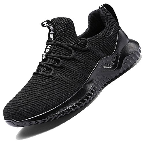 RUOK Men s Breathable Knit Athletic Shoes Lightweight Running Sneakers Gym Tennis Skateboard Shoes