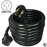 electric trailer cord - TWB Smart 50 Amp Heavy Duty 25 Foot Power Cord for RV, Motor Home, Trailer, Electric Car Level 2 Charging. NEMA 14-50 RV Extension Cord, 6 Gauge, UL Listed Power Cord. 125V/250V two phase (Nema 14-50)