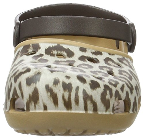 Crocs Delle Karinclog Donne leopard Zoccoli Multicolore p6qvprHR