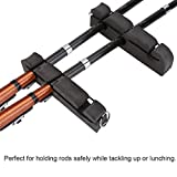 Fly Fishing Rod Rack Holder Rod Stand Rack 2Pcs Portable Magnetic Car Fly Rod Density Foam Fly Fishing Rod Holder Car Pole Stand Rack
