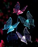 Butterfly Solar Garden Stakes SET of 4