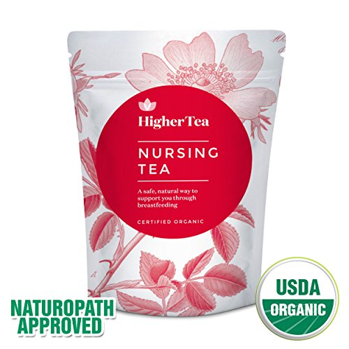 Nursing Tea by Higher Tea, Increase Breastmilk Supply with Fenugreek, Fennel, & Organic Herbs. Galactagogue Breastfeeding & Lactation Herbal Supplement Aid, Boost Postpartum Milk Production