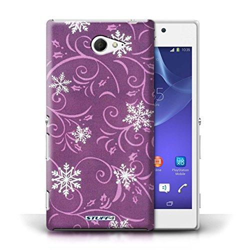 pour Sony Xperia M2 / Rose conception / Collection de Motif flocon de neige