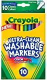 Crayola 10 Ct Ultra-Clean Fine Line Washable Markers, Color Max