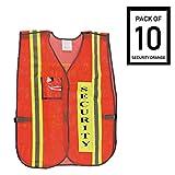 Troy Safety Vest with Reflective Stripes (10 Pack, Security Orange)