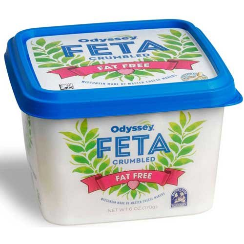 Odyssey Fat Free Crumbled Feta Cheese, 6 Ounce - 12 per case.