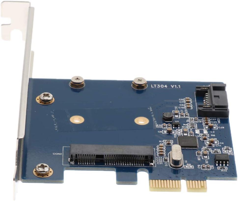 6Gb//s PCI Express Controller Card PCI-e to 7pin SATAIII MSATA SSD Converter