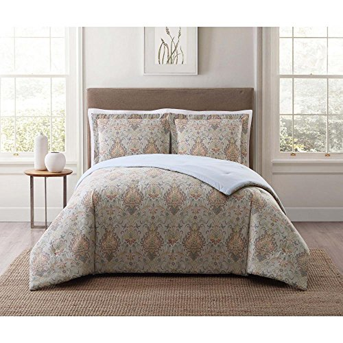 (Style 212 Cambridge Ivory Multi Full and Queen XL Comforter Set)