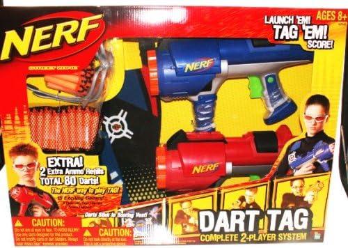 B00113OPY2 NERF Dart Tag Complete 2 Player System Bonus Ammo Refills 80 Darts Total 51t27Am7j9L