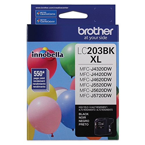 Brother LC203BK Black Original Ink High Yield