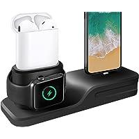 Cargador 3 en 1 para iPhone AirPods Apple Watch Estación de Carga de Silicona, Soporte para el Apple Watch 3/2/1…