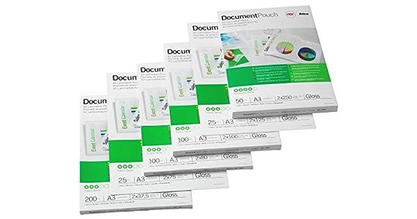 Amazon.com: GBC A3 Matt bolsas 150 micras PK100: Office Products