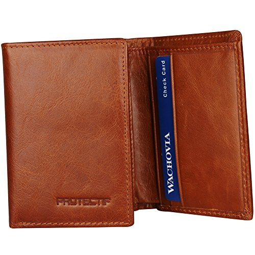 Blocking Trifold Genuine Leather Wallets