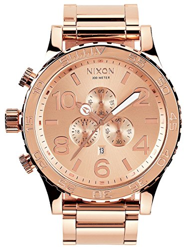 Nixon 51-30 Chrono All Rose Gold Watch Stainless Steel A083897-00