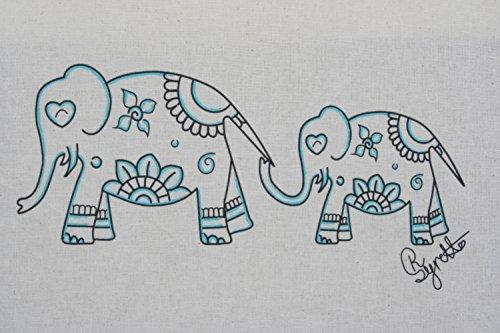 Zest–Borsa in tela, con mandala elefanti