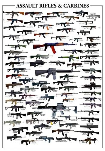 ASSAULT RIFLES & CARBINES GLOSSY POSTER PICTURE PHOTO guns weapons - 47 Ak Carbine