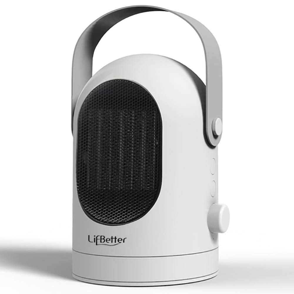 Blu7ive Portable Space Heater, Personal Ceramic Oscillation Heater Fan with Tip-Over & Overheat Protection for Home Office