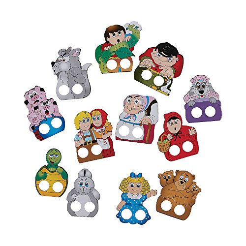 Fun Express Storytime Finger Puppets | 72 Count | Great for Themed Party, Pre-School Lesson, Teaching Material, Party Prizes & Giveaways, Toddler Students, Children's Toy, Gift Ideas