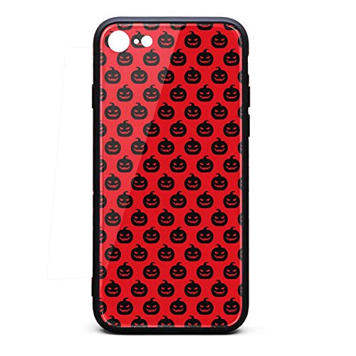 2018 Autumn Halloween Pumpkin Pattern Phone Case for iPhone 7, iPhone 8, Slim Protection Art Line Design Cell Phone Protective Case -