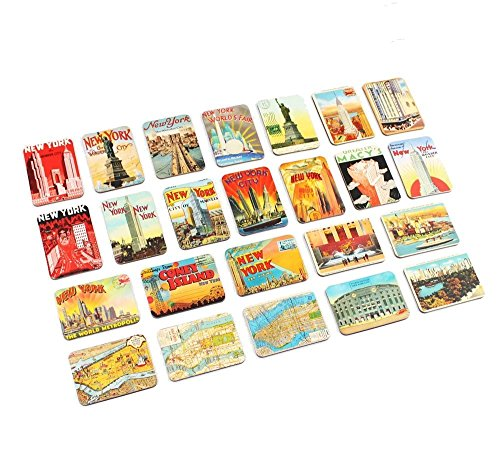 Ninja souvenirs Refrigerator magnets set of 24 New York souvenirs magnetic fridge magnet home decoration accessories arts crafts (New Refrigerator York Magnet)