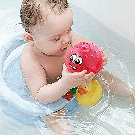 Lanbowo Bath Toy Light Cute Infant Children Electric Induction Sprinkler Toy Light Play Bath Water Toys