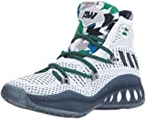 adidas Performance Kid's Shoes | Boy's Crazy Explosive Primeknit Basketball, White/Collegiate Navy/Mgh Solid Grey, (5 M US Big Kid)