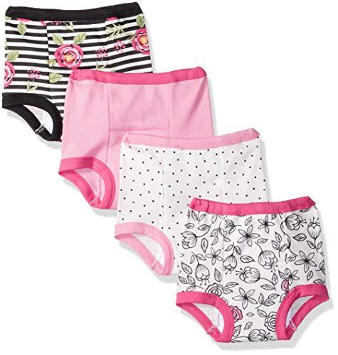 Lamaze Girls' Toddler Organic 4 Pack Training Pants, White, 3T by Lamaze