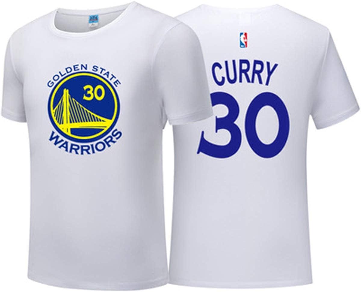 Camiseta De Manga Corta para Hombre Golden State Warriors Basketball Jersey De Cuello Redondo Entrenamiento De Baloncesto Urban Edition Sudadera Transpirable