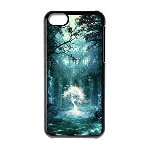 WJHSSB Print Fantasy Fairy Tale Pattern PC Hard Case for iPhone 5C