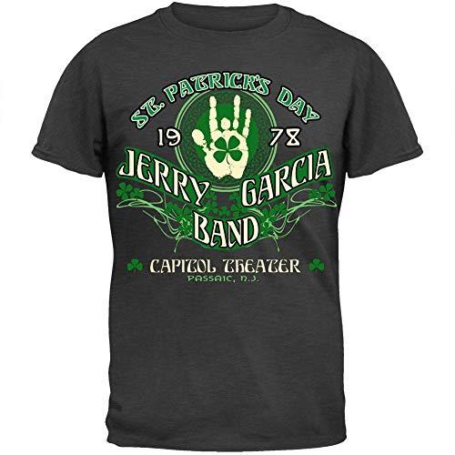 Liquid Blue Men's Jerry Garcia-JGB ST Patrick's Day T-Shirt, Heather Grey, ()