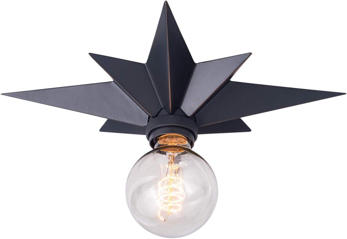 VILUXY Flush Mount Ceiling Light, Black Star Light Fixtures Ceiling for Hallway, Entryway, Study Room, Bedroom