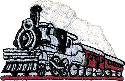 Railroad Steam Train - Embroidered Iron On or Sew On Patch (Badge Thomas Tank)