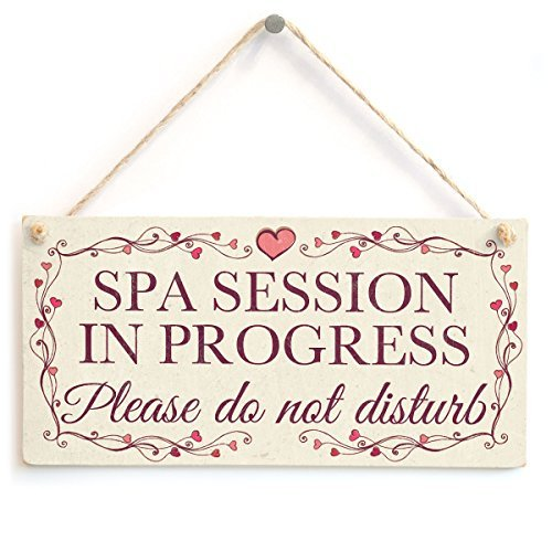 Spa Session In Progress Please do not disturb - Pretty Love Heart Frame DeWood Sign Wall Plaque Wooden Hanging Wood Sign Wall Plaque Wooden Hanging Plaque