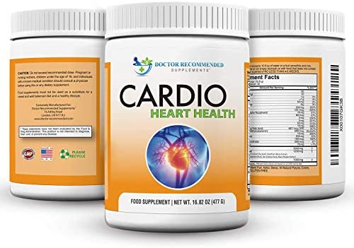 Cardio Heart Health Powder L-Arginine Supplement 5000mg L-Citrulline 1000mg,16.82 oz
