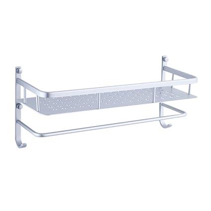 Estante de toalla Artículos de baño Colocados Estantes Estante para Toallas Espacio Aluminio Toallitas de Cocina