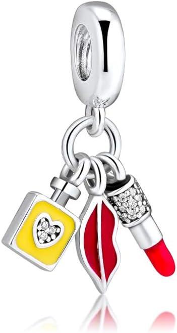 Amazon Com Ckk Sexy Chanel Perfume Bottle 925 Sterling Silver Dangle Charm Fit Pandora Dangle Charms Bracelet Arts Crafts Sewing