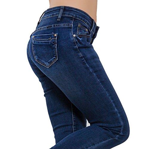 Toocool Elasticizzati Scuri Donna Aderenti Denim Jeans Curvy Slim Pantaloni A1931 Sexy H8BrHqw