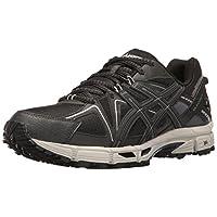 ASICS Gel-Kahana 8 Trail Runner para hombre, negro /ónix /plateado, 7 M EE. UU.