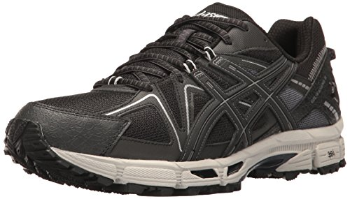 Gel Asics Runners (ASICS Men's Gel-Kahana 8 Trail Runner, Black/Onyx/Silver, 9 M US)