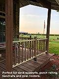 Eapele 4x4 Wood Fence Post Anchor Base, 13GA Thick